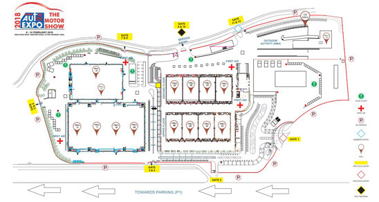 Auto Expo 2018 Venue Map